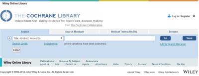 New Cochrane Library platform