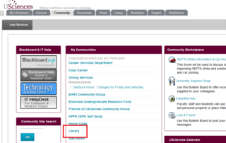 Library link on Community Page